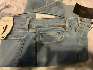 $250 RAG & BONE Made In USA  Extra Slim Size 34x32 Denim