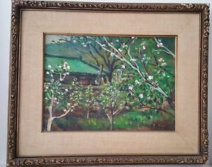 S Kye Impressionist Painting Antique On Canvass Early 20th Century Korea Art $989.00