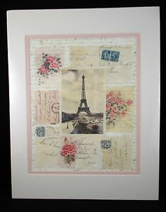 Paris Collage 2003 Lithograph by Portal Publications Matted NEW MC MAL 225