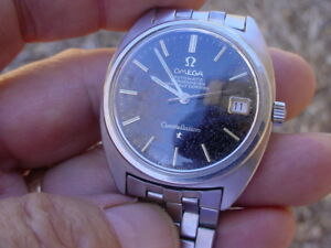 Omega Constellation 168017 RARE Gilt Black Dial Tropical. Original Bracelet