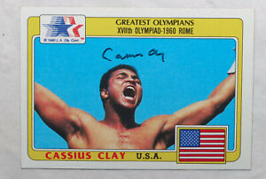 Muhammad Ali signed Cassius Clay 1984 Olympic trading card  *AUTHENTICATED*