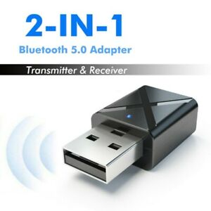 PC USB Bluetooth 5.0 Transmitter Wireless Audio Stereo Adapter Dongle Receiver *