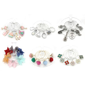 Set of 6 Wine Glass Markers Wine Charms Wine Accessories Wine Glass Charms US
