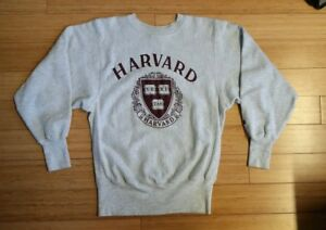 Vtg 80s CHAMPION HARVARD University Sweatshirt Ivy League Shirt Athletic Phys Ed