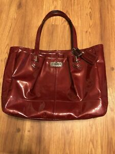 COACH Red Patent Leather Handbag Purse