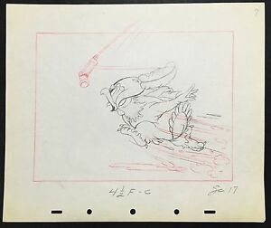 Walt Disney's Original Production Layout Drawing from Mickey's Amateurs 1937.