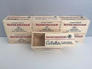 WINCHESTER WOOD AMMO Box - limited edition wooden box - Great for small storage