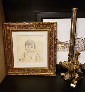 ANTIQUE 1917 ORIGINAL EGON SCHIELE