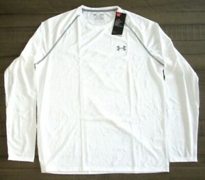 Under Armour Mens Long Sleeve Tech Tee Shirt 1264088 White Sm 4xl $19.99