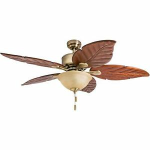 Honeywell Sabal Palm 52-Inch Tropical Ceiling Fan with Sunset Bowl Light Five