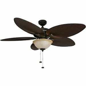 Honeywell Palm Island 52-Inch Tropical Ceiling Fan with Sunset Glass Bowl