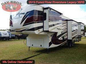 2019 Forest River Riverstone Legacy 38RE New Travel Trailer Fifth Wheel Camper