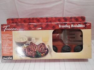 Char-Broil Branding Medallions & Spatula in Rosewood Box