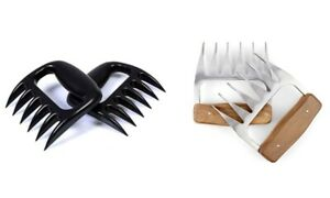 4 PIECE Stainless Steel and Plastic Meat Shredding Claws Shred Tool BBQ