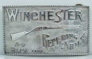 Sterling Winchester Repeating Arms Rifle Belt Buckle Vintage Adina Silver Rare