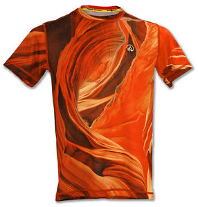!!Out-of-Print!! INKnBURN Men's Sandstone Tech Running Shirt Sz. Small