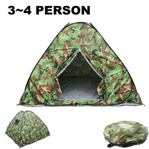 3-4 Person Waterproof Camping Tent Automatically Opens Outdoor Hiking Quick Shel