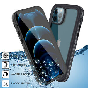 For iPhone X XS XR XS Max Clear Waterproof Protective Case With Screen Protector