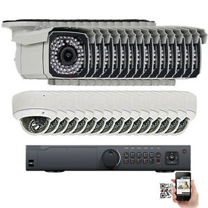 32Ch NVR 2592P 5MP PoE IP ONVIF Dome Bullet Security Camera OSD System 5TB HD DR
