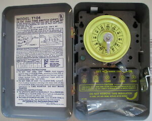 INTERMATIC T104 40A N1 DPST 24 Hour Mechanical Time Switch timer