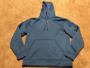 Mens Under Armour Blue Athletic Logo Hoodie Sweatshirt Size Small $19.99