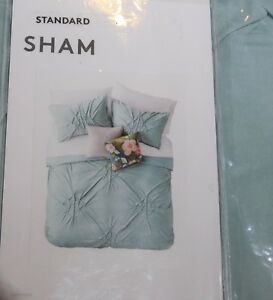 928  Nordstrom King Ethan Textured 20 X 28 Soft Jersey Pillow Sham Covers Green