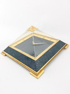 Super rare LeCoultre Tabe Clock with 8 day movement Pyramid design 1960´s
