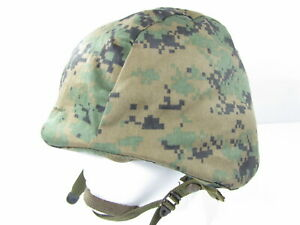 Authentic Military PASGT 8687 Unicor Ballistic Helmet Med Marpat Woodland Camo