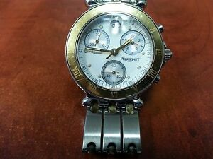 EP PEQUIGENT 855 CHRONO WATCH NEW BATTERY AND SEAL CERTIFIED Free Shipping!!