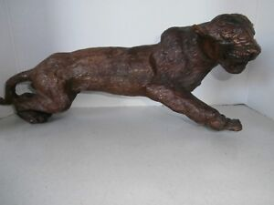 RARE JAPANESE BOX WOOD LEOPARD EARLY1920 $169.40