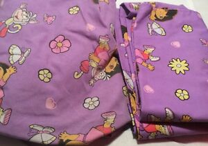 Dora the Explorer Flat & Fitted Toddler Bed Sheets Purple