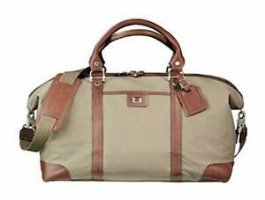 Cutter Buck Weekender Leather and Canvas Duffel Bag Luggage Bag Chestnut