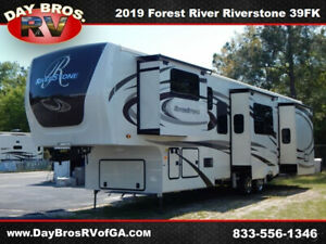 19 Forest River Riverstone 39FK New Fifth Wheel Travel Trailer Towable Camper RV