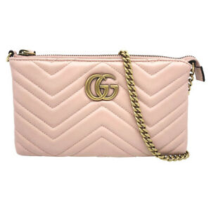 Gucci Marmont Chain Gg Matelasse Light Nude Pink Leather Cross Body Bag 2018