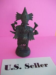 Antique Statue of Lord Ganesha made of brass US Seller