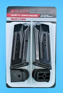Ruger Security-9 Compact Pistol Magazine 10-Round 9mm Value 2-Pack 90686 OEM NEW