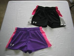 girls under armour shorts youth L lot of 2