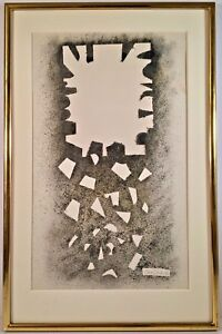 Listed American Artist David Smith (1906-1965) Signed Spray Paint On Paper 1963