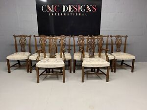 Amazing Set of 8 Beautiful Designer Grand Chippendale style dining chairs