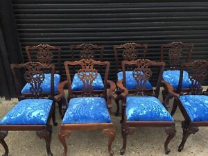 Amazing Set of 8 Beautiful Designer Grand Chippendale style dining chair