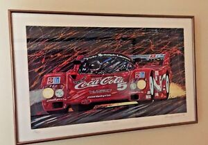 LIMITED EDITION RANDY OWENS SIGNED quot;COCA COLAquot; 16 95 FRAMED 1986 Porsche $1900.00