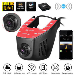 WiFi Hidden 1080P Dual Lens Car DVR Dash Cam Video Recorder Front