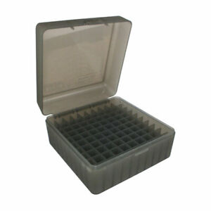 MTM Ammo Box 100 Round Flip-Top 22-250 243 308 Win 220 Swift Clear Smoke