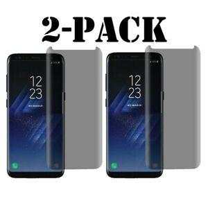 Privacy Screen protector Tempered Glass For Samsung Galaxy S8 S9 Plus  Note 8 9
