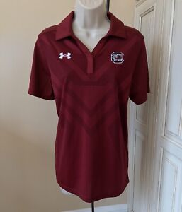 NWT! Under Armour Heat Gear University Of SC Gamecocks Loose Fit Polo ~ Large