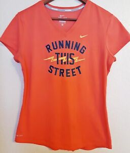 Nike Sport T shirt Medium Dri Fit Solid Pink with wording EXCELLENT CONDITION $12.19