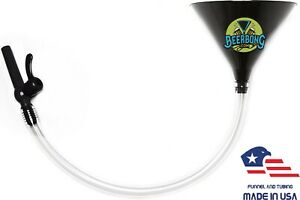 Large Beer Bong Funnel w Black Valve (2' Long) Fun for Tailgating Black Funnel