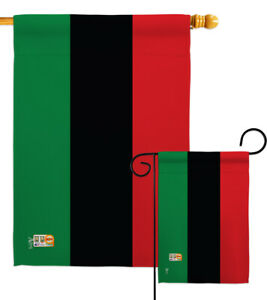 African American Nationality Afro Negro Black Heritage Garden House Yard Flag