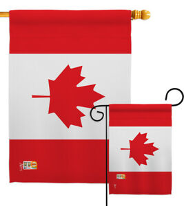 Canada Nationality Hockey Maple Syrup Bacon Ketchup Chips Garden House Yard Flag