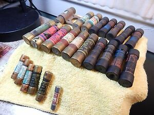 24ct- New from old stock? Mixed lot Size & AMP Vintage Buss Fusetron fuses